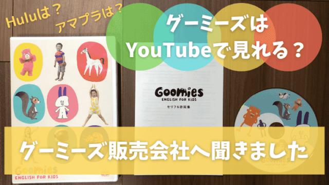 グーミーズはYouTubeで見れる?販売会社へ問い合わせ調査