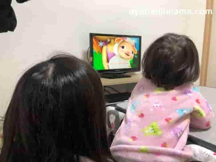リトルベイビーバムを視聴した、うちの1歳5歳の口コミ感想